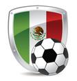 mexico shield soccer vector image vector image