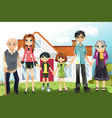 multi generation family vector image