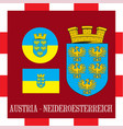 national ensigns of neideroesterreich - austria vector image vector image