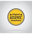 Original isolated badge label or sticker vector image