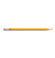 Pencil on white vector image vector image