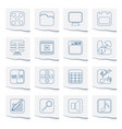 phone performance internet and office icons vector image vector image