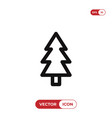 pine icon christmas treexmas symbol flat sign vector image