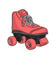 pink roller skate sketch doodle vector image vector image