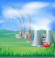 power plant energy generation vector image