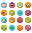 sawmill icon set vector image vector image
