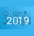science 2019 word trendy composition concept vector image vector image