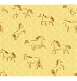 Seamless background with stylized horses vector image