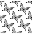 seamless pattern butterflies vector image vector image