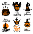 set of halloween banners trick or treat halloween vector image vector image