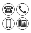 set simple phone icon vector image