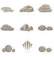 set stone rock and pebble element decor isolated vector image vector image