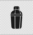 shaker icon in transparent style sport bottle on vector image