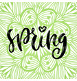 spring handwritting icon seasonal green vector image vector image