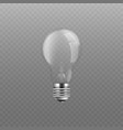 standard incandescent light bulb without vector image vector image