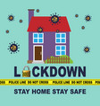 stay home stay safe vector image vector image