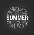 summertime on black vector image vector image