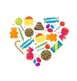 Sweet Candies Icons Set vector image