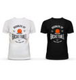 T-shirt cotton sportswear with basketball theme vector image vector image