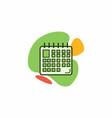 the calendar icon vector image vector image