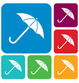 umbrella sketch icon vector image