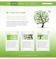 Website design template with green tree vector image vector image