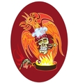 chef - skull vector image