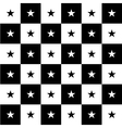 Star Black White Chess Board Background vector image