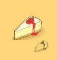 strawberry cheese cake vector image
