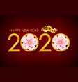 2020 calligraphy number vector image vector image