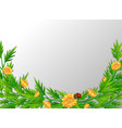 a green nature leaf border vector image vector image
