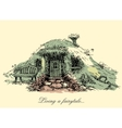 A small mysterious house from fairy tales Dwarf vector image