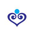 Abstract love icon logo vector image