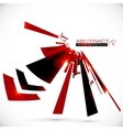 Abstract red and black shining lines background vector image vector image
