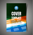 abstract report cover6 vector image vector image