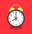 alarm clock red wake-up time isolated on vector image vector image
