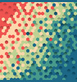 background of colored hexagon vector image vector image