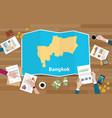 bangkok thailand capital city region economy vector image