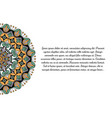 banner with flower mandala vector image vector image