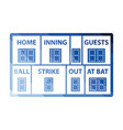 baseball scoreboard icon vector image
