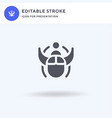 beetle icon filled flat sign solid vector image vector image