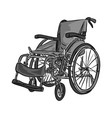 black and white wheelchair sketch vector image vector image
