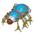 blue robot bug on white background