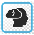 Brainstorming Icon In a Frame vector image