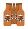 brown bottles of beer icon image vector image vector image