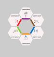 business infographics workflow team work vector image vector image