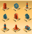 car tuning gradient isometric icons vector image