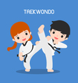 cartoon of taekwondo vector image vector image