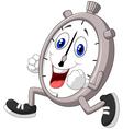 Cartoon stopwatch running vector image vector image