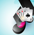 casino card design vector image vector image